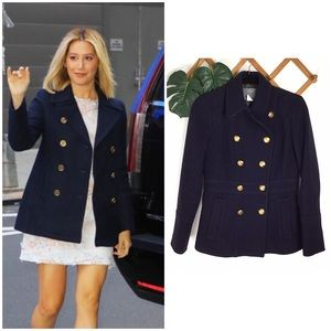 J. Crew | Wool Navy Stadium Cloth Peacoat Jacket 2